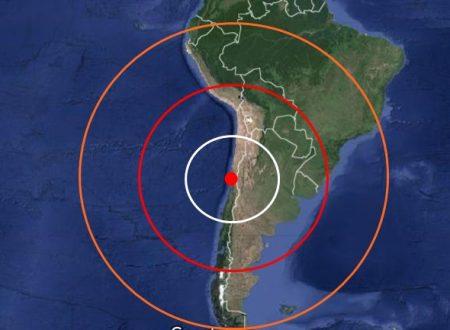 Violento terremoto in Cile