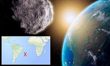 Meteorite esplode sopra Atlantico meridionale