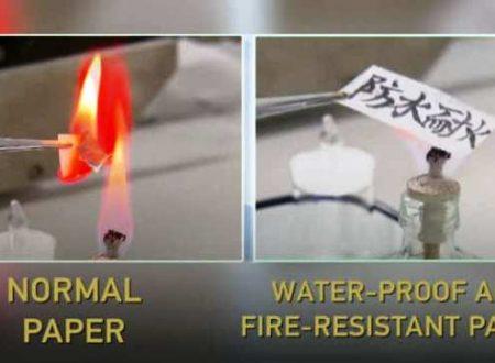I cinesi hanno inventato la carta ignifuga e idrofuga