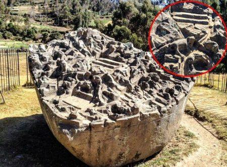 Sulla Sayhuite Stone sono incise 200 figure geometriche e zoomorfe