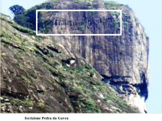 Pedra da Gávea iscrizione