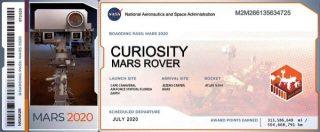 Documento imbarco Mars2020