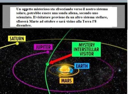 Nuovo oggetto interstellare si avvicina alla Terra