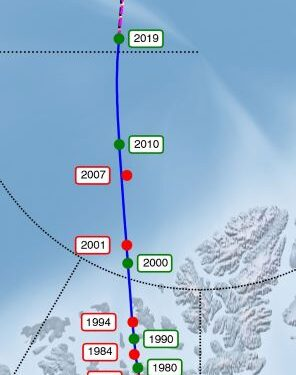 Il polo nord magnetico terrestre si sposta dal Canada alla Russia