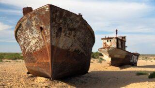 Navi nel deserto Lago Aral